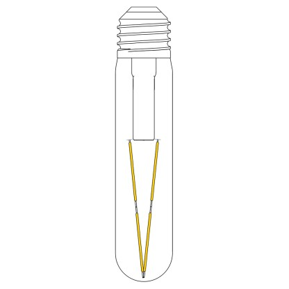 3 Watt Dimmable LED E27 Tube Bulb