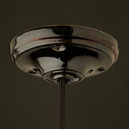 black porcelain large ceiling rose