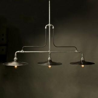 Galvanised Plumbing Pipe Conservatory Light