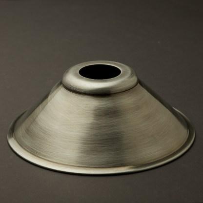 Antiqued steel light shade 190mm