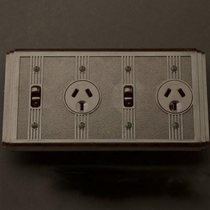 Bakelite Art Deco double power point