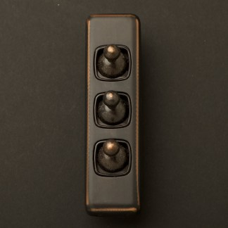 Traditional Antique Copper triple rocker switch