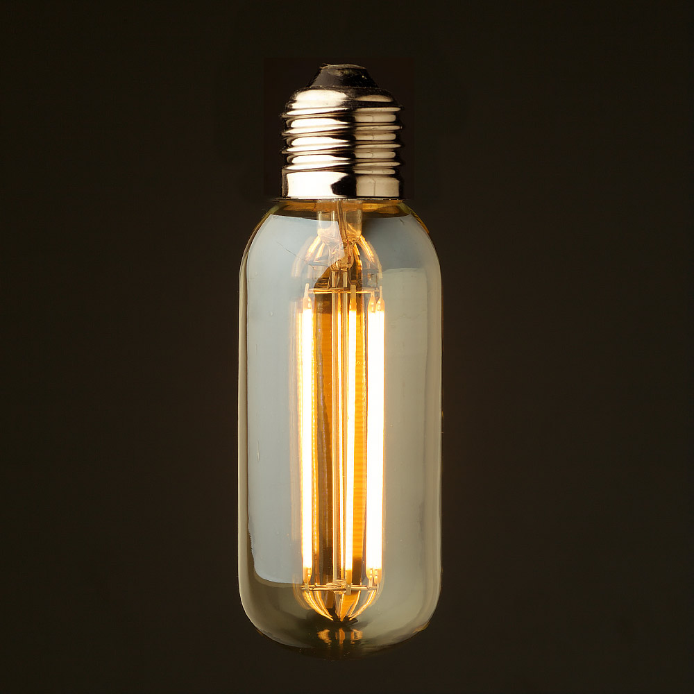 Led E27 Lantern Dimmable 6 Filament Bulb Watt Short Tube LUSMqzpVG