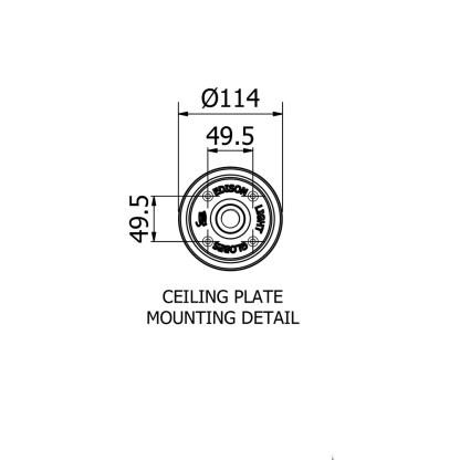 Edison Light Glones Cast Ceiling Plate