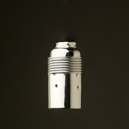 Smooth Nickel Plate Lampholder Edison E14 fitting