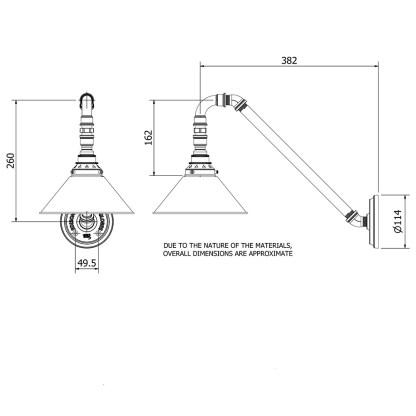 Angled Plumbing Pipe Wall Shade Lamp