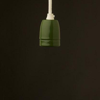 E27 green porcelain pendant