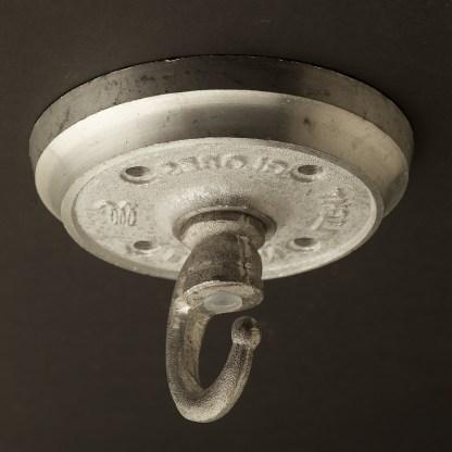 Cast aluminium chain hook ceiling plate
