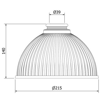 Holophane Dome Light Shade