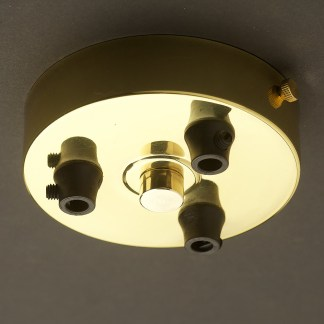 New Brass Multiple drop Plastic Cord grip ceiling plate