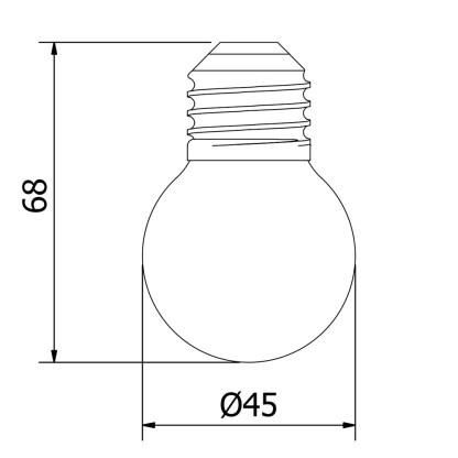 24V Fancy Round 1W LED 2000K Clear Festoon Bulb
