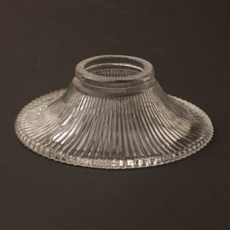 Very Small Ribbed Open Glass Shade