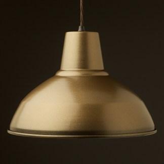 Brass painted Factory Shade Bakelite Pendant Lampholder