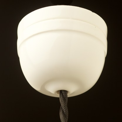 White Porcelain Dome Ceiling Rose