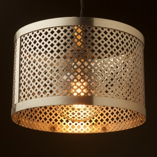 300mm Steel Club&Round Mesh Shade Pendant