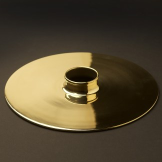 Solid brass 255mm flat light shade