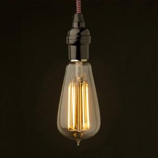 Edison style light bulb Vintage Bakelite fitting Lantern filament LED