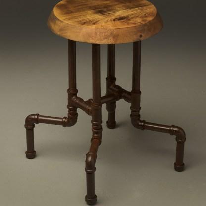 Industrial plumbing pipe bar stool