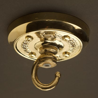 Polished brass chain hook ceiling plate