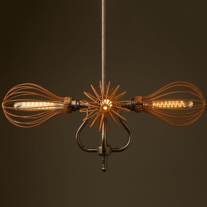 4 bulb cage coventry bend hub chandelier