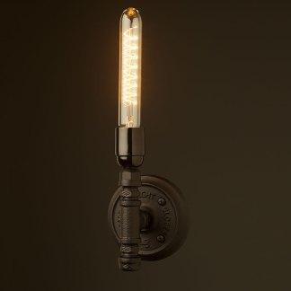 Vintage Black Bakelite Wall Candle Light E27
