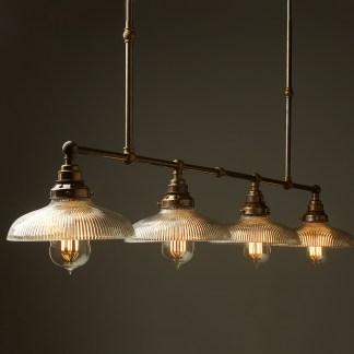 Vintage Edison Long Billiard Table Light