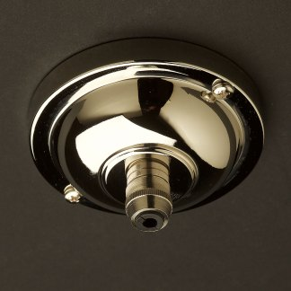 Nickel Plated Brass Cord Grip ceiling rose 90mm
