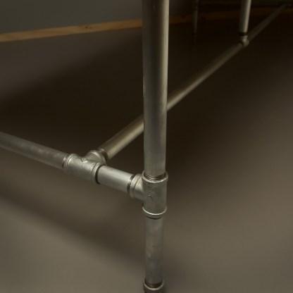 Long plumbing pipe desk base kit