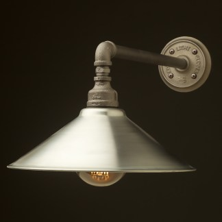 Large Shade Straight Arm Wall Light