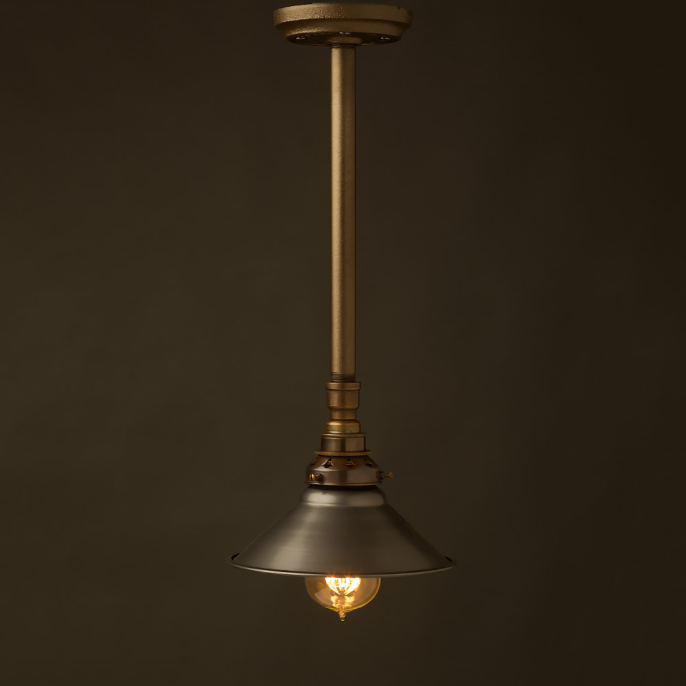 Drop Light Fixtures: Single Drop Plumbing Pipe E27 Ceiling Light