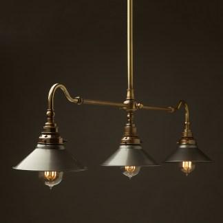 Antique Brass Single Drop Billiard Table Light