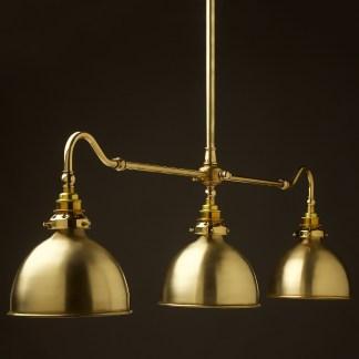 New Brass single drop Billiard Table Light polished brass dome