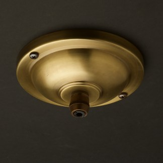 115 mm antique brass cord grip ceiling plate