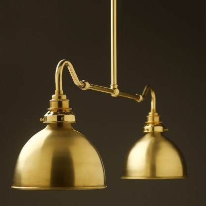 New brass single drop small table light polished brass dome