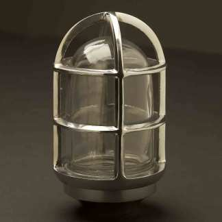 Solid aluminum water proof light globe cage and glass cover