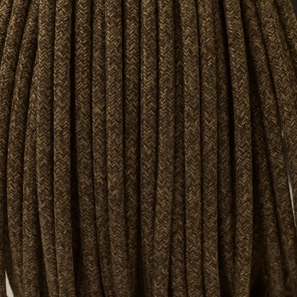Pulley Cord 3 Core Fabric Covered Flex brown canvas
