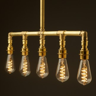 Solid Brass Industrial Light Fitting