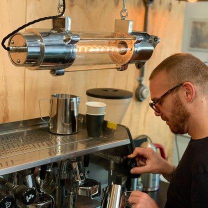 500 mm glass explosion proof cast aluminium light coffee machine