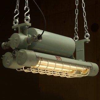 750mm Vintage green explosion proof twin tube light