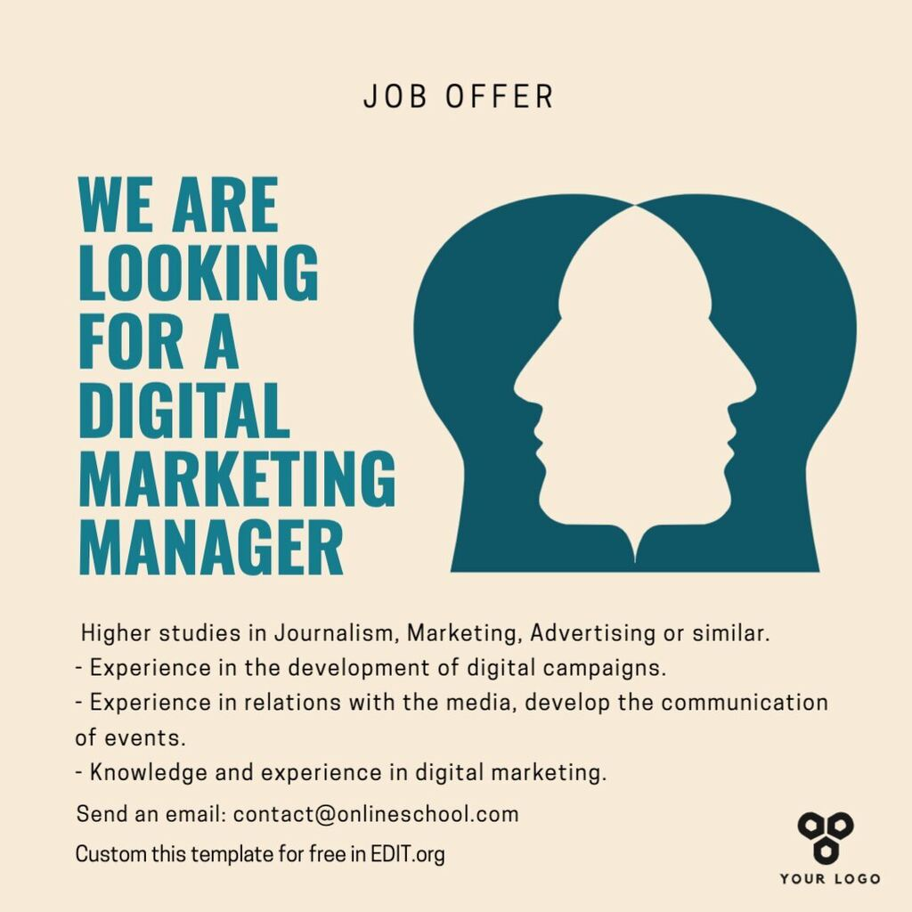 we are hiring poster templates to print