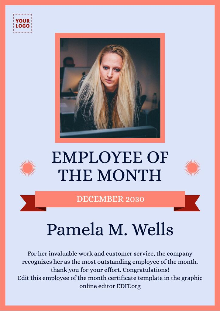 editable employee of the month