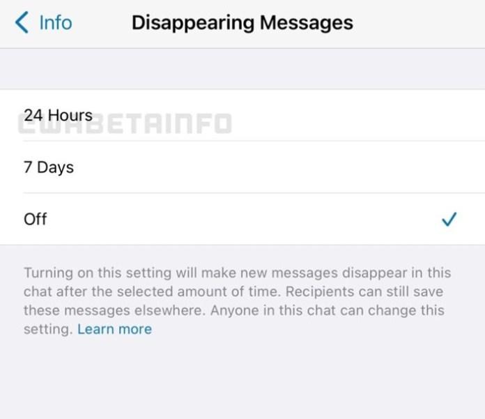 Atualização WhatsApp