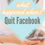 What Happened When I Quit Facebook Pinterest Pin