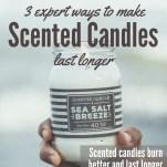 Make Scented Candles Last Longer Pinterest Pin