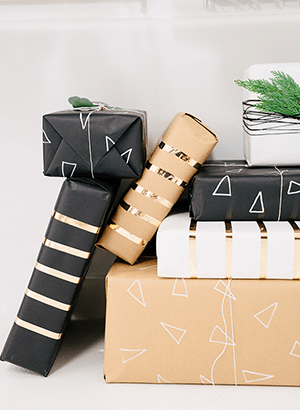 homemade wrapping paper