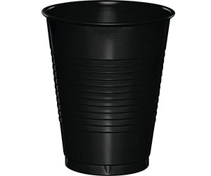 Black Disposable cups