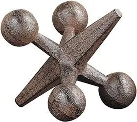 Cast Iron Jack Ornament Sculpture