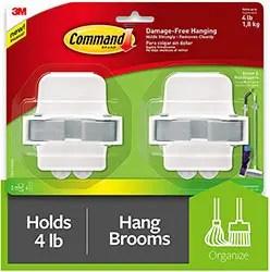 Command Broom & Mop Grippers
