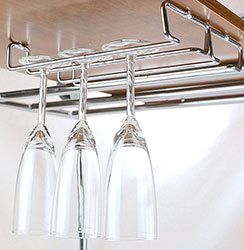 Single Rail Wine Glass Stemware Rack Holder