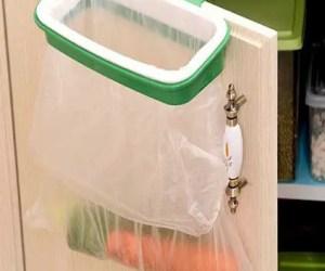 Hanging Trash Bag Holder for Kitchen Cupboard